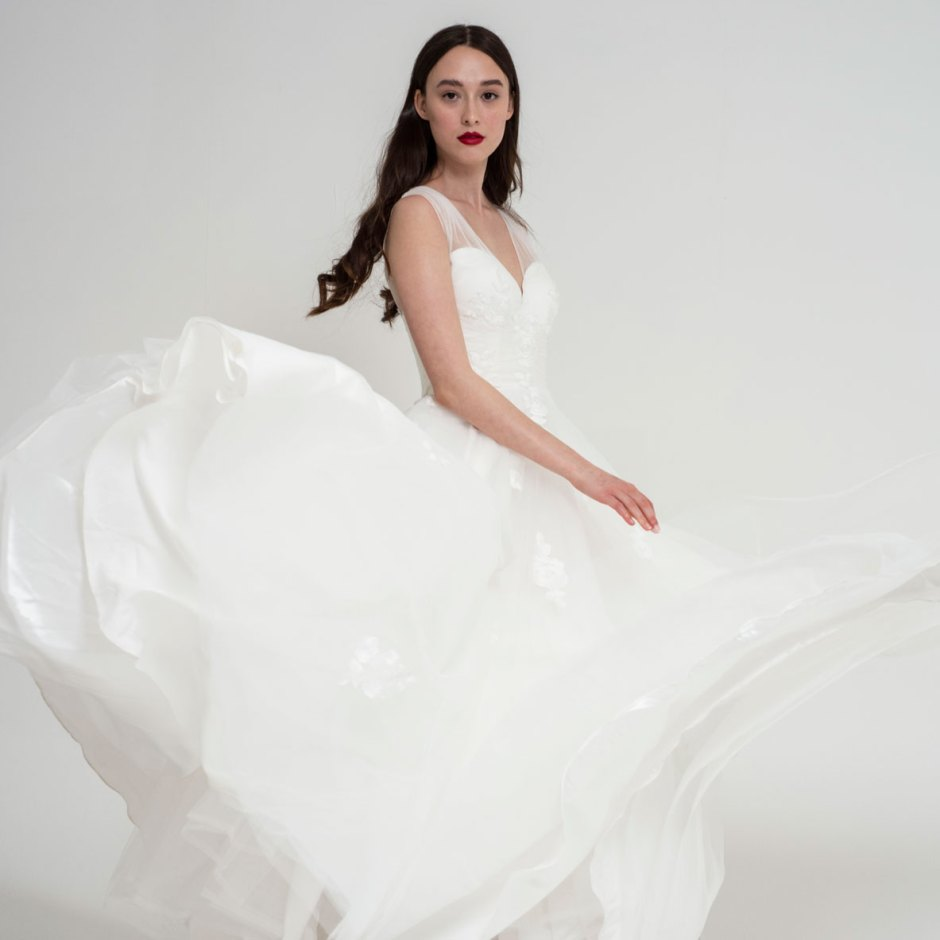 Freda Bennet Florence wedding gown