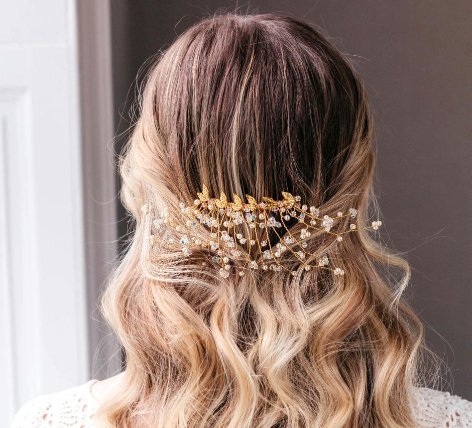 Gold-pearl-and-Swarovski-crystal-bridal-hair-slide-Aura