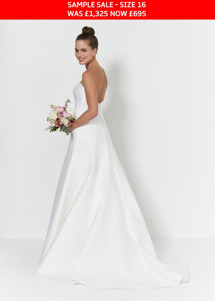 So Sassi Ebony bridal dress sample sale