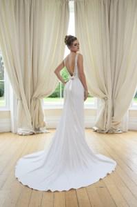 GAIA Julia wedding dress back