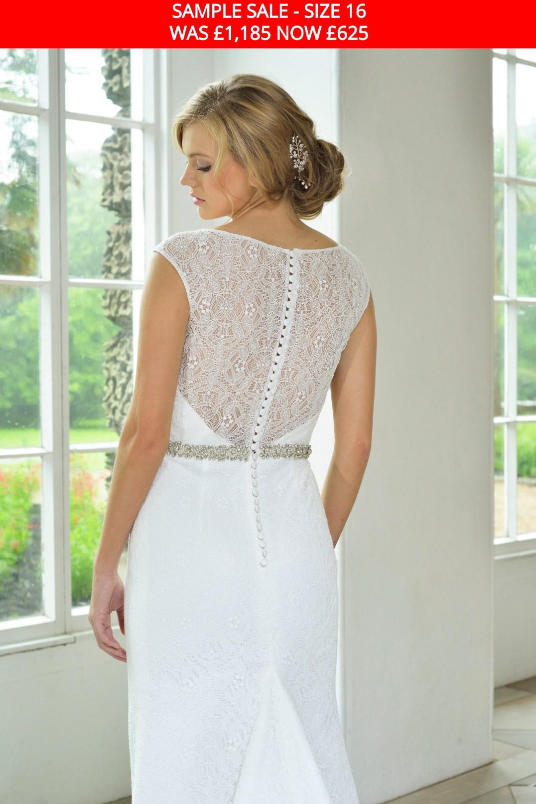 GAIA 1712 wedding dress back sample sale