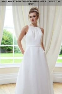 GAIA Cate wedding gown - Available at Honeyblossom Bridal for a limited time only