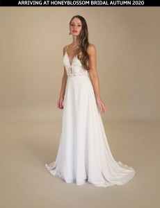 GAIA Capri wedding gown arriving soon to Honeyblossom Bridal boutique