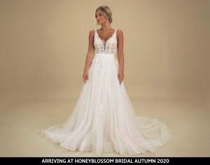 GAIA Portofino wedding gown arriving soon to Honeyblossom Bridal boutique