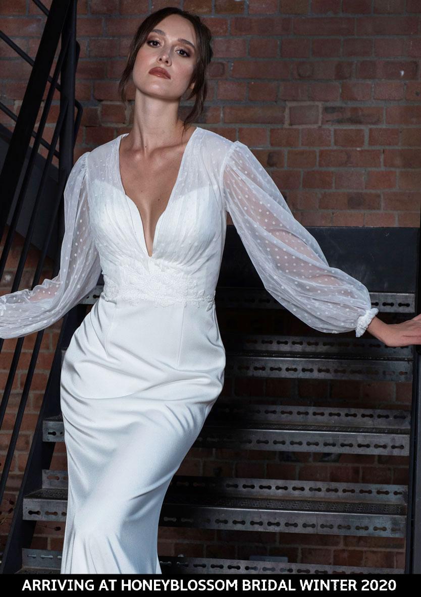 Freda Bennet Marcie wedding dress arriving soon to Honeyblossom Bridal