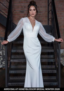 Freda Bennet Marcie wedding gown arriving soon to Honeyblossom Bridal