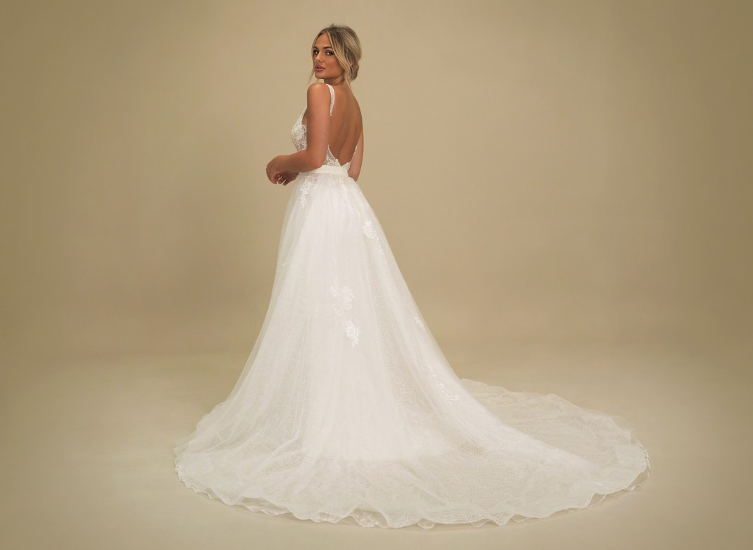GAIA Portofino wedding dress with overskirt