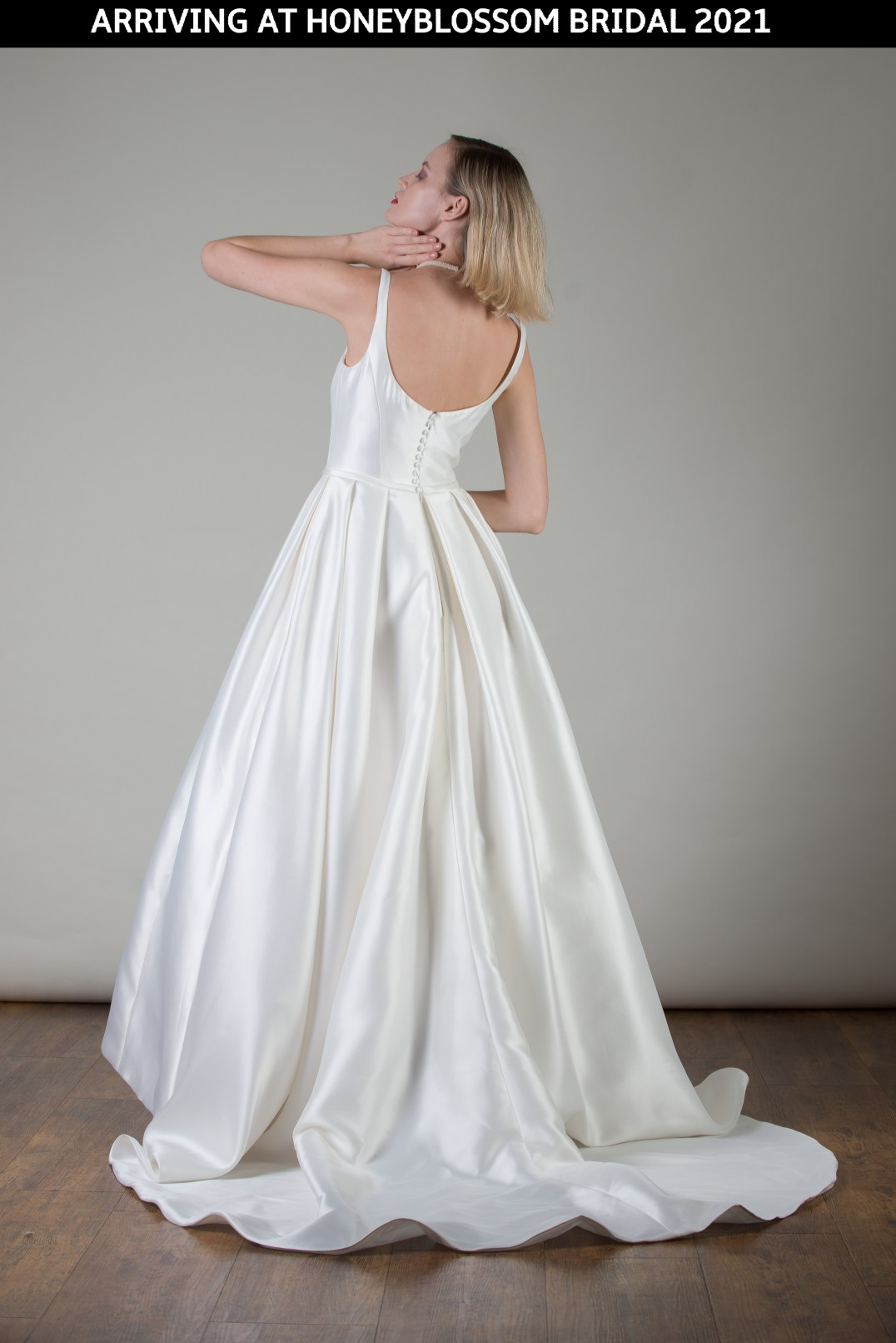 MiaMia Bologna wedding dress arriving soon to Honeyblossom Bridal