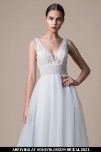 MiaMia McKenzie wedding gown arriving soon to Honeyblossom Bridal
