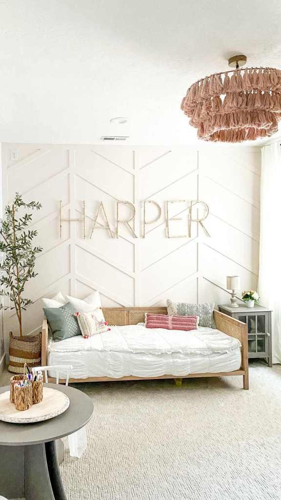 Herringbone accent wall