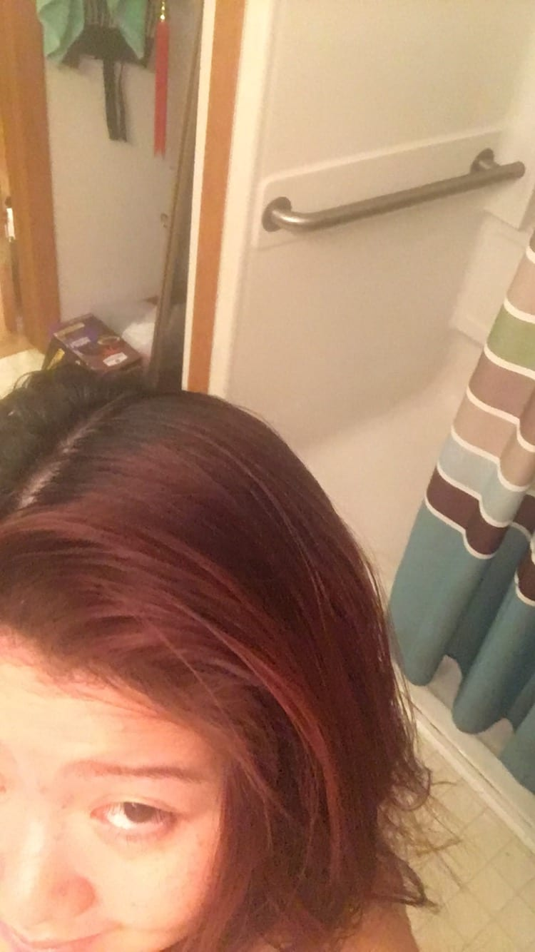 red hair roots touch-up