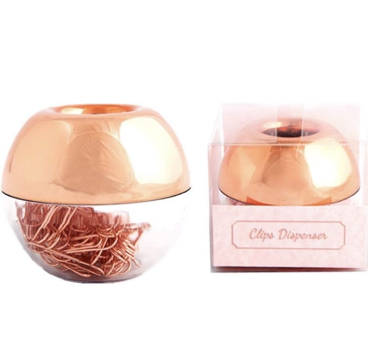 paper clip holder rose gold