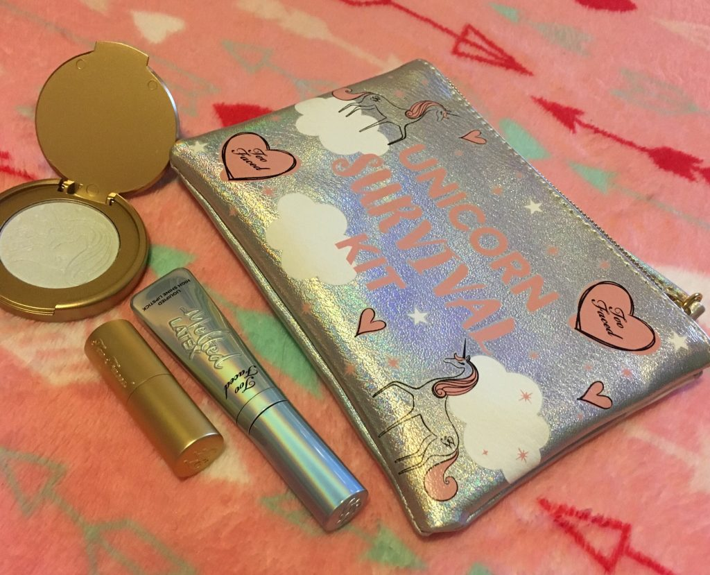 unicorn survival kit too faced honeybunnytwee