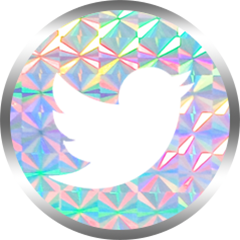 honeybunnytwee iridescent twitter social media icon