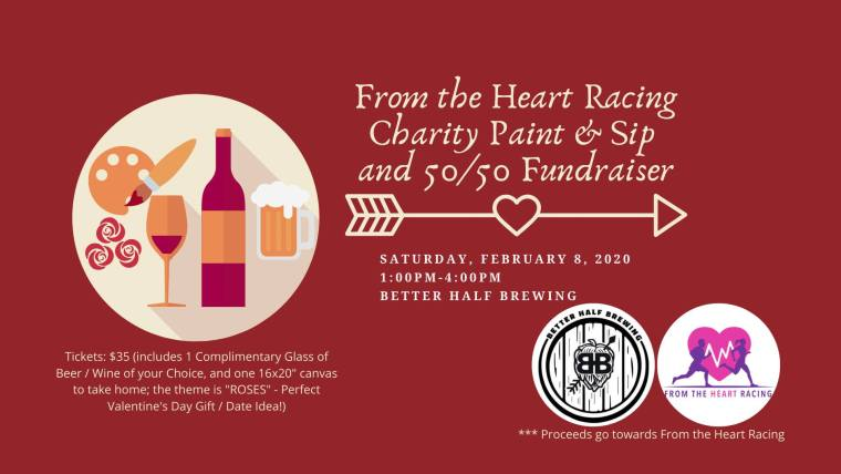 From the Heart Racing Charity Paint & Sip and 50/50 Fundraiser