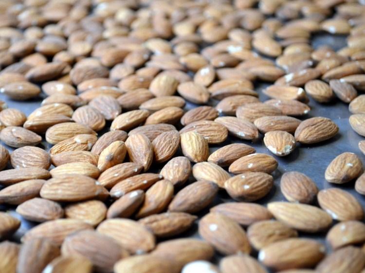 Almonds Ready to Roast