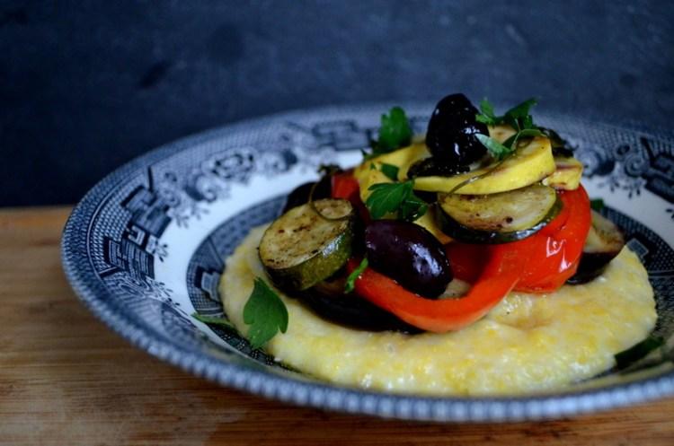 Creamy Polenta with Provencal Vegetables en Papillote