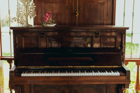 An old upright piano to learn on