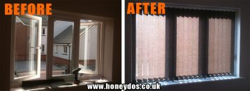 WINDOW BLIND FITTED