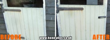STABLE DOOR BOLT FITTED