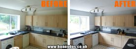 KITCHEN WALLS & CEILING PAINTED