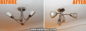 REPLACE CEILING LIGHT
