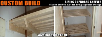 CUSTOM BUILT AIRING CUPBOARD SHELVES