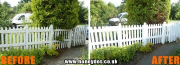 PICKET FENCE REPAIRED & PAINTED