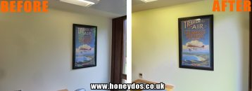 INTERIOR OFFICE WALLS PAINTED