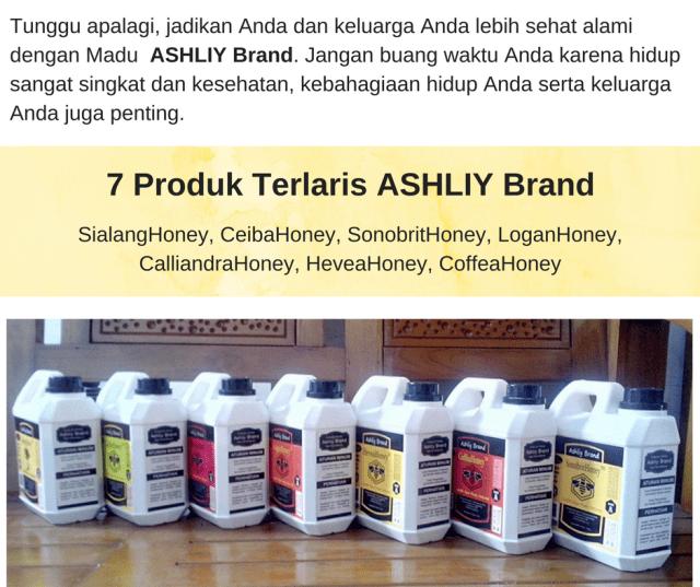 Produk Terlaris ASHLIY Brand Honey Madu Asli Murni Mentah Alami
