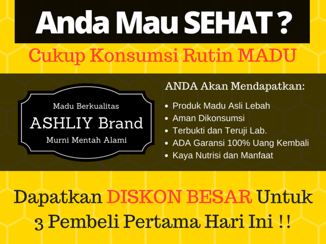 Madu ASHLIY Brand Honey Raw Pure Natural