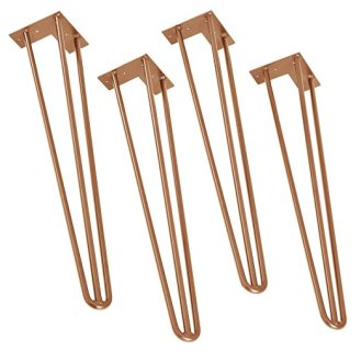3 branches hair pin legs rose gold