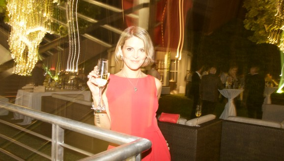 Your truly; that Baci Vivaci was to DIE for! Mezzacorona & Stemmari Wines' Holiday 2014 Wine Tasting at Rooftops on Ponce