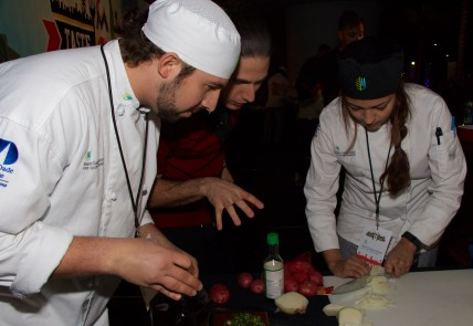 Learning from a master - Chef James passing on the wisdom @ Taste of Miami 2015