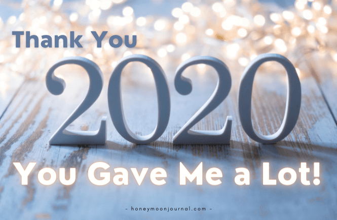thank you 2020 honeymoonjournal