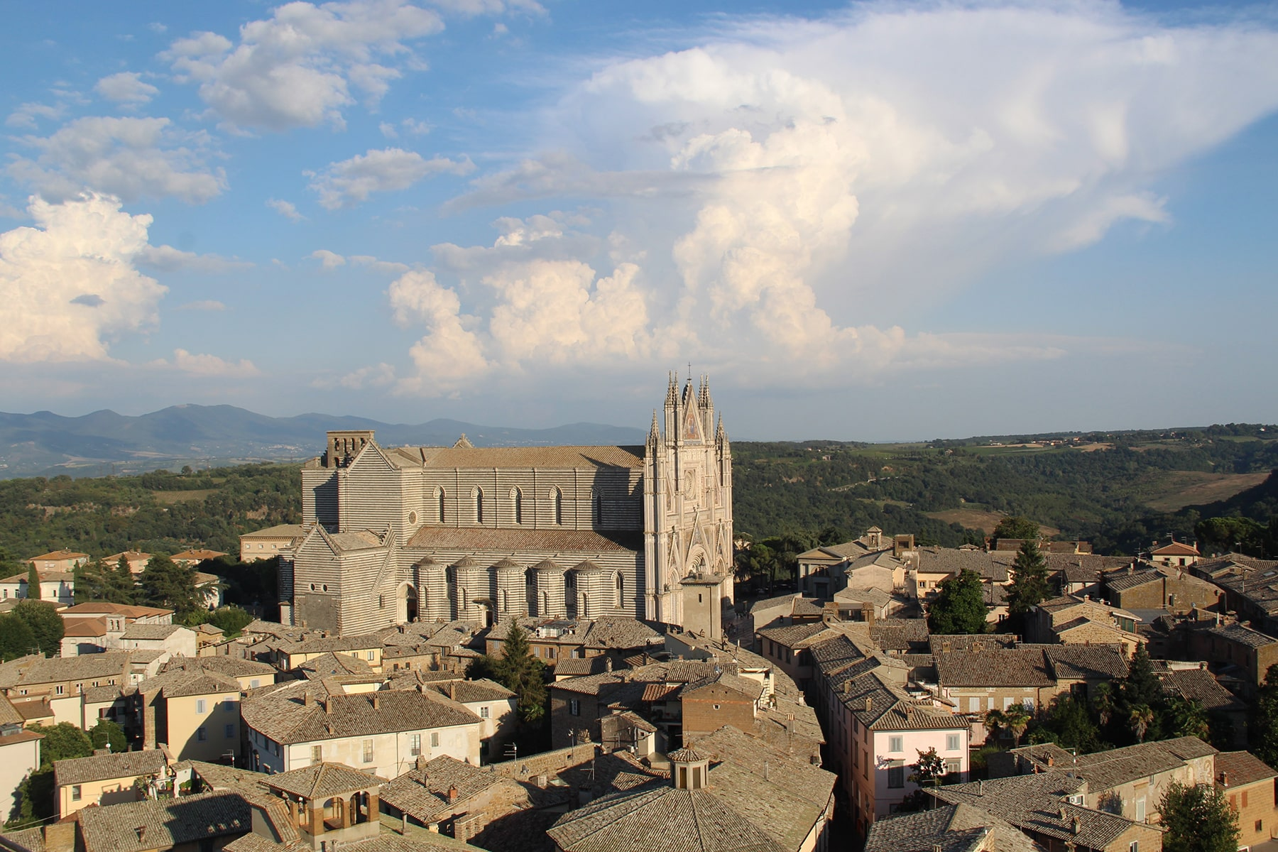 View on Orvieto and cathedral
