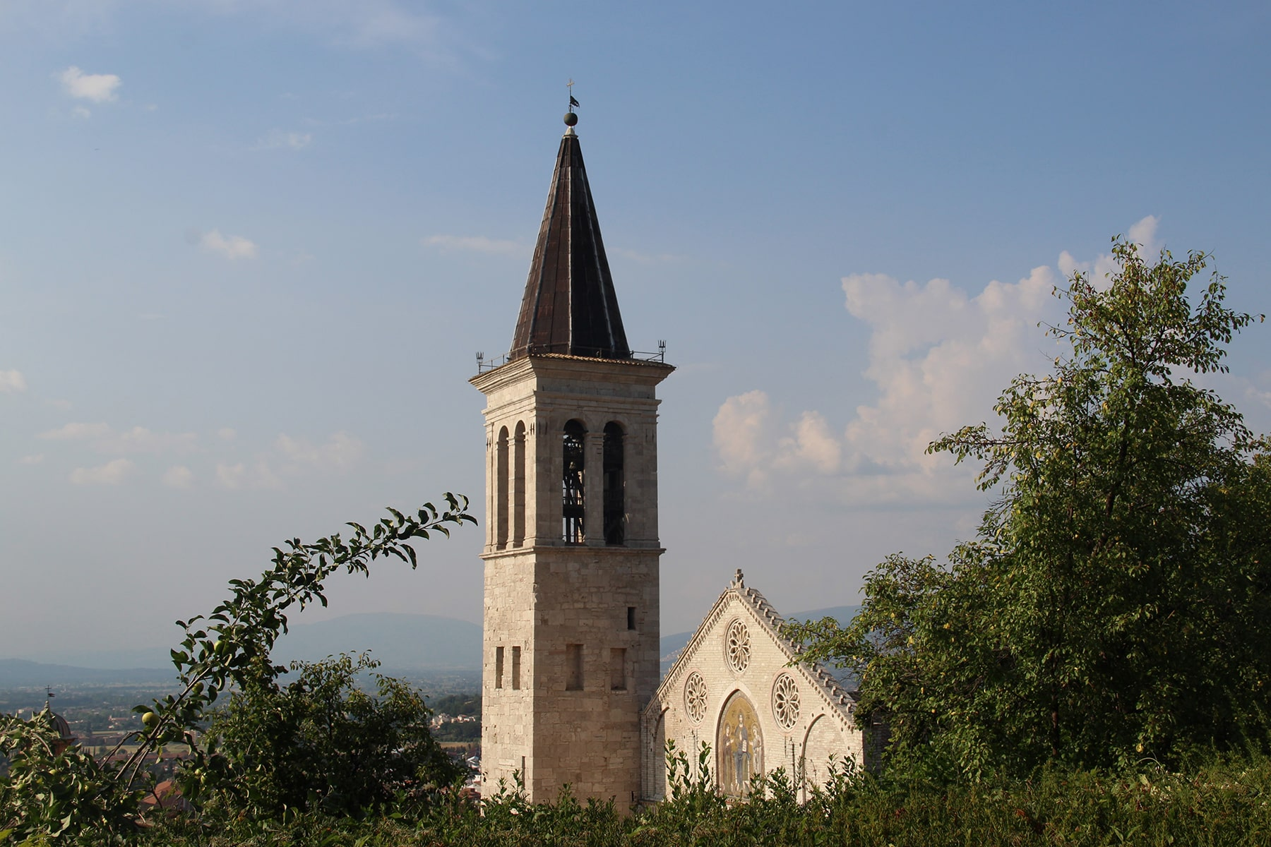 Bell tower cathedral Spoleto