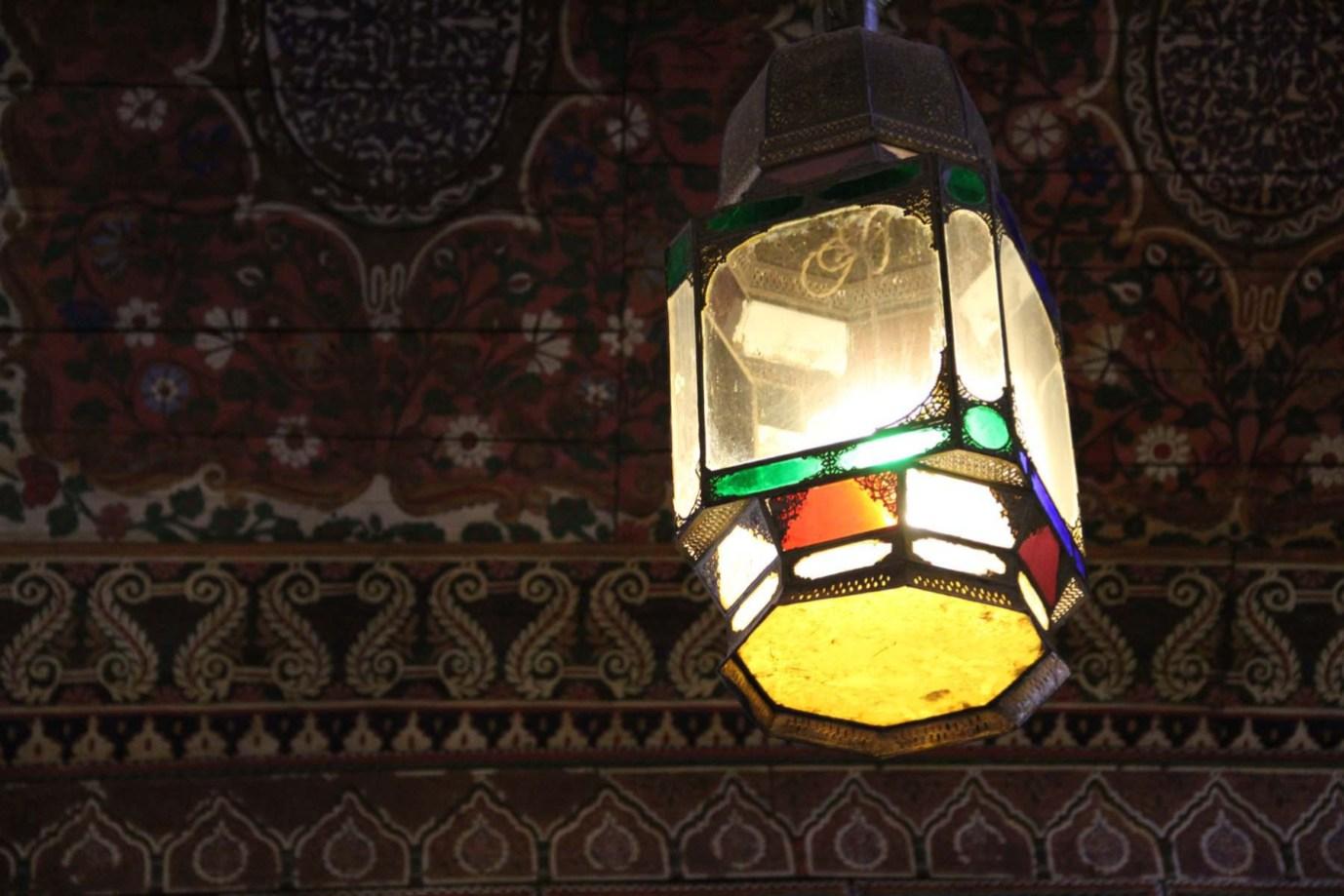Lamp in Bahia Palace, Marrakech