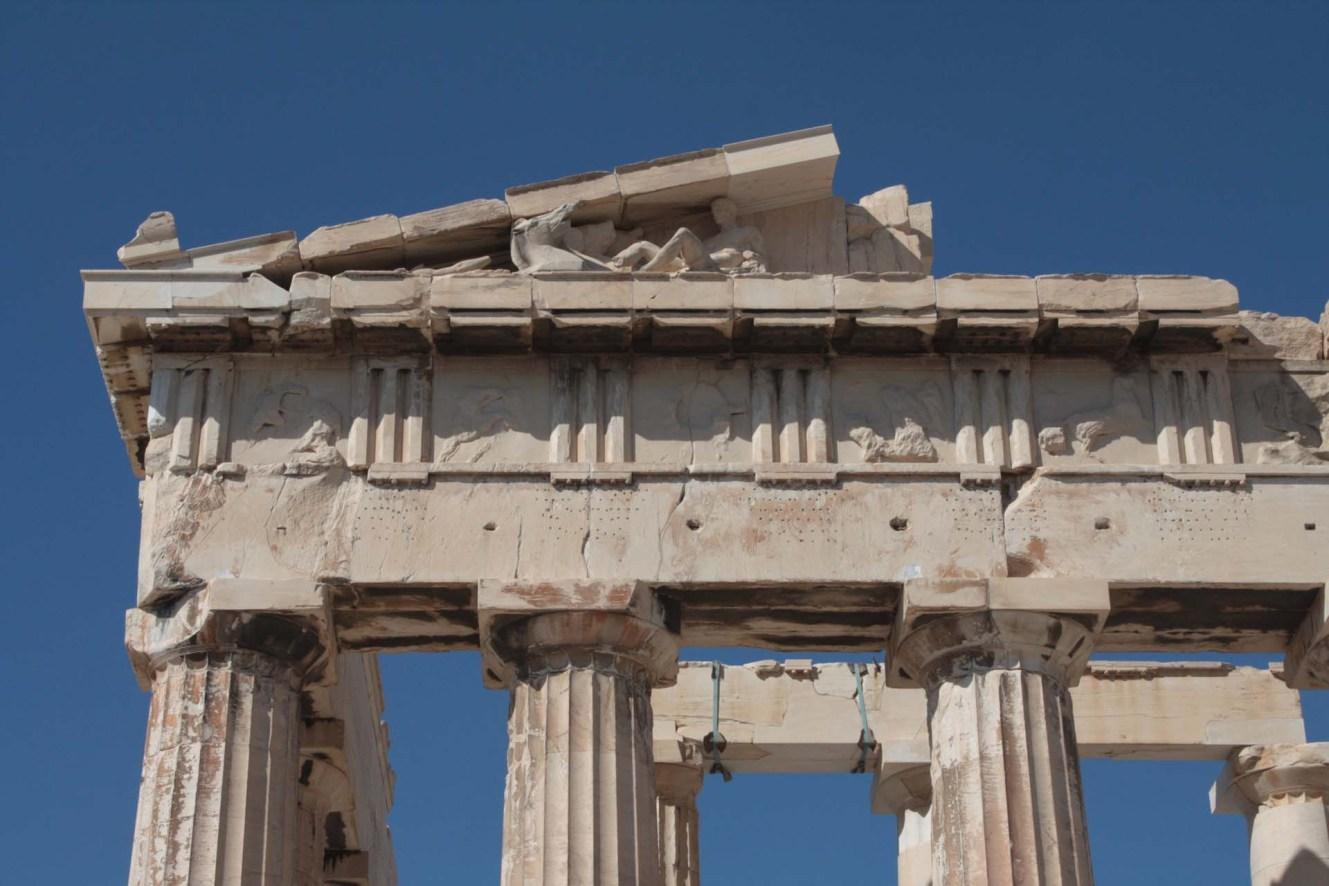 Métopes du Fronton Est du Parthénon sur l'Acropole d'Athènes