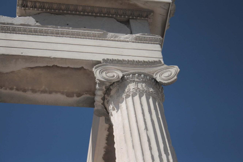 Détails colonne Acropole d'Athènes