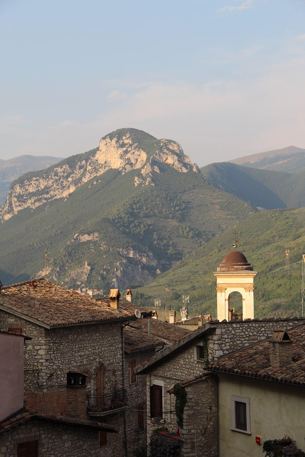 View on the mountains Montefranco Terni