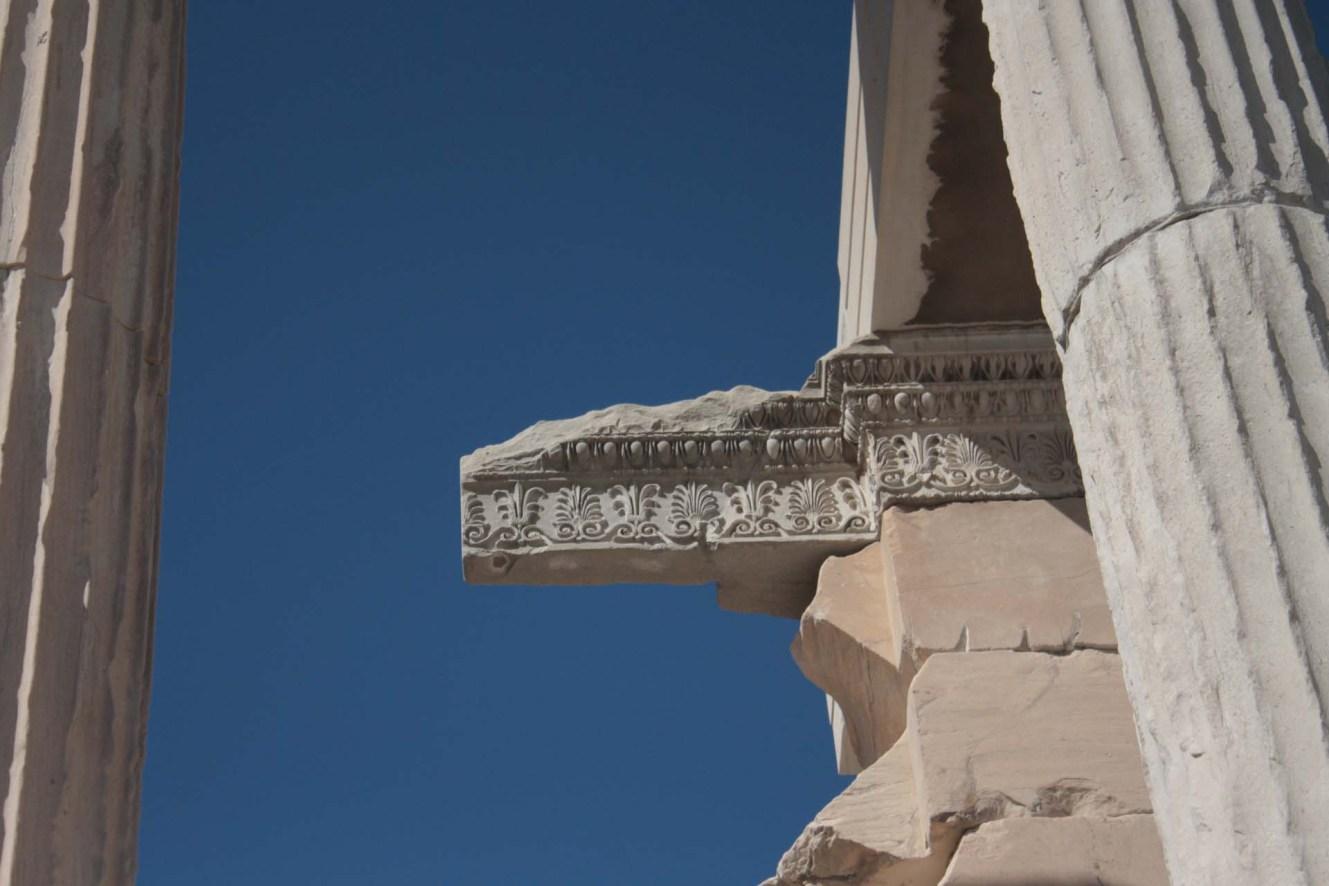 Décoration d'un temple dans l'Acropole d'Athènes
