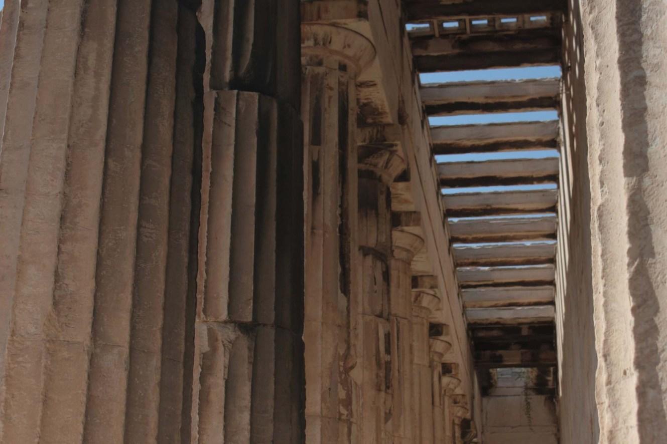 Colonnes du Temple d'Héphaïstos dans l'Agora d'Athènes