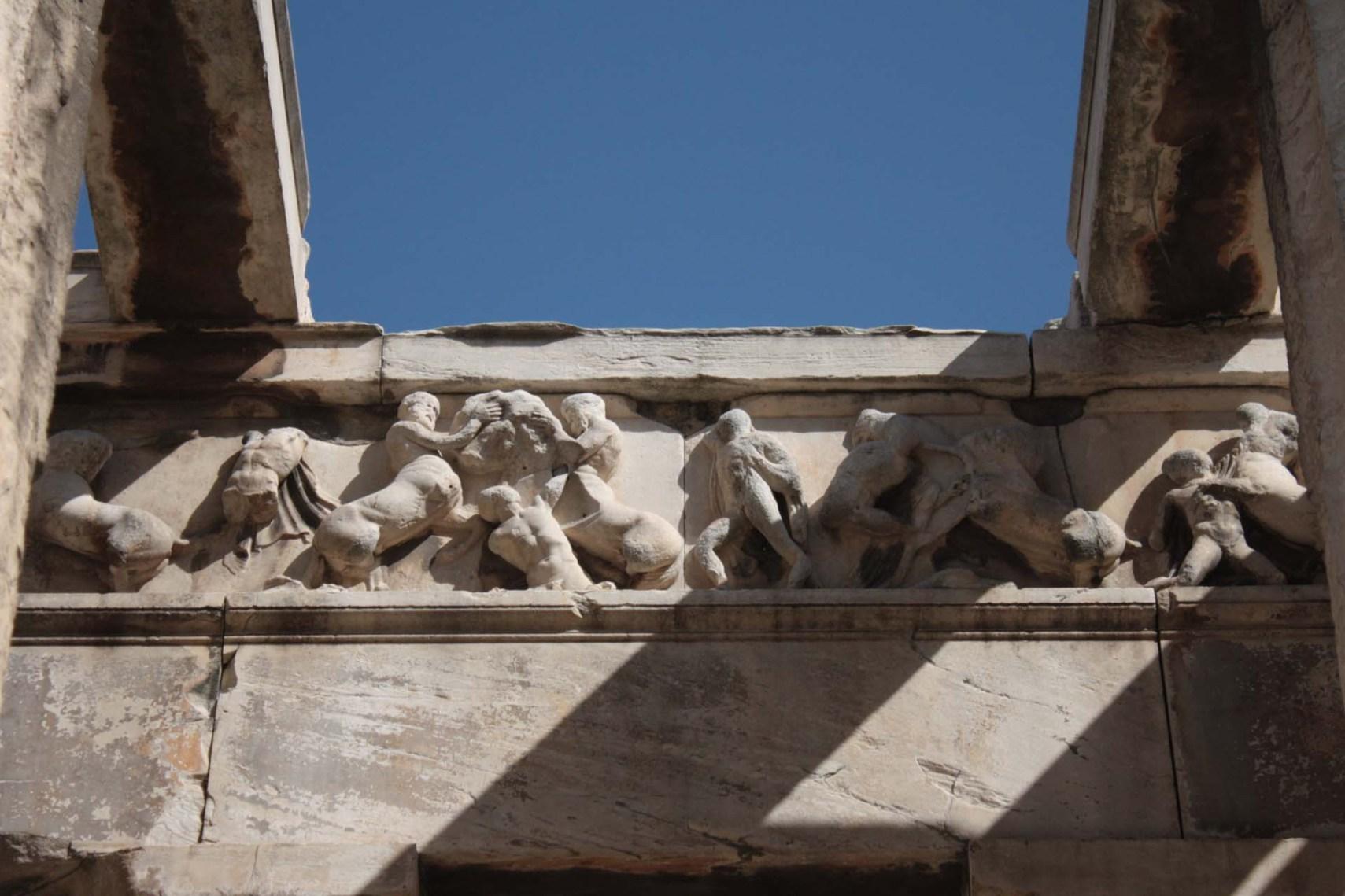 Métopes du Temple d'Héphaïstos dans l'Agora d'Athènes
