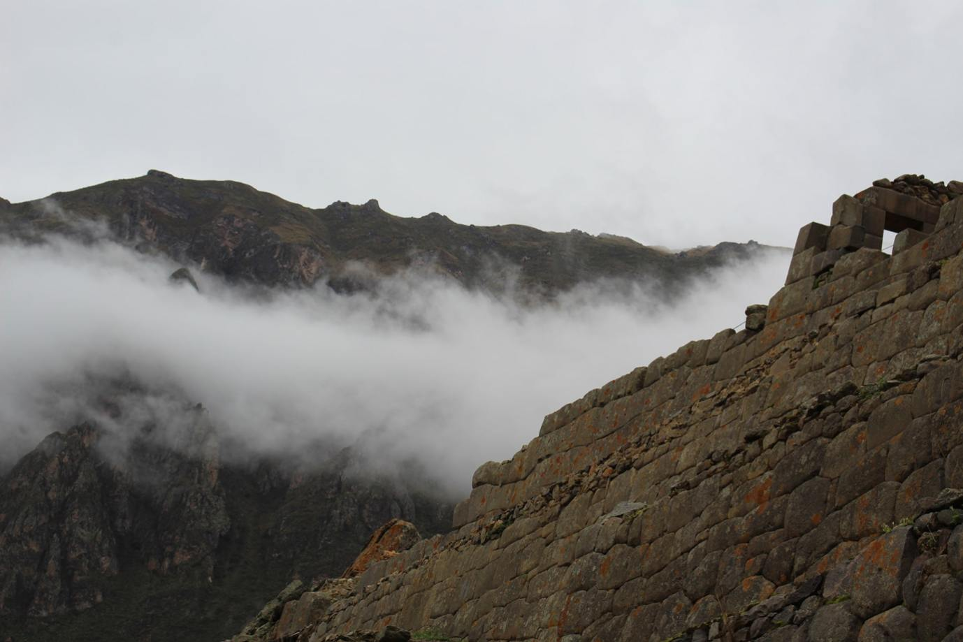 Ollantaytambo in the clouds