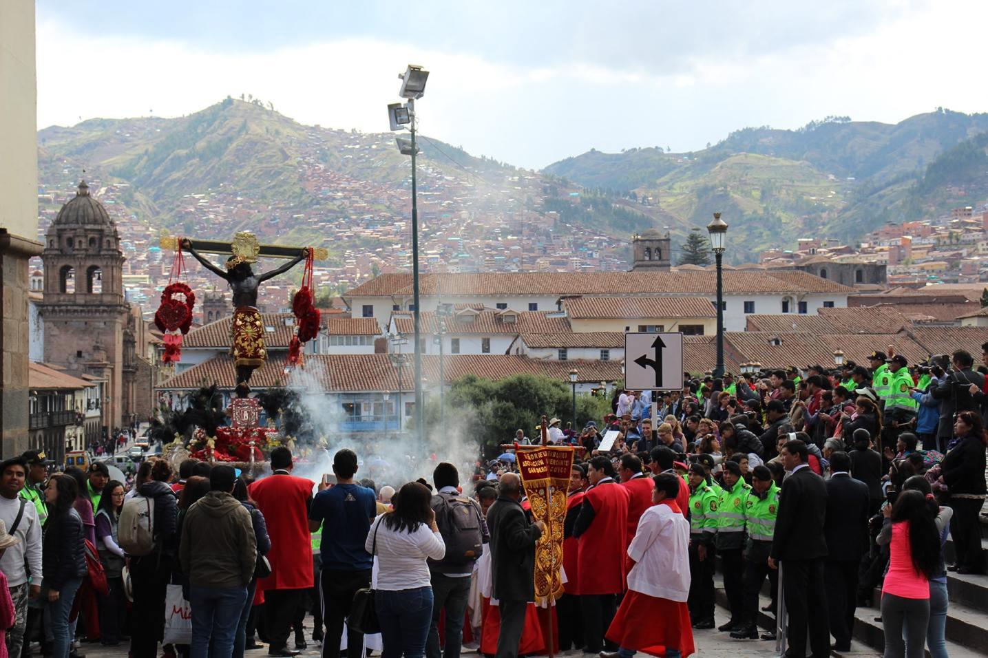 Cerimonia del Señor de los Temblores a Cuzco