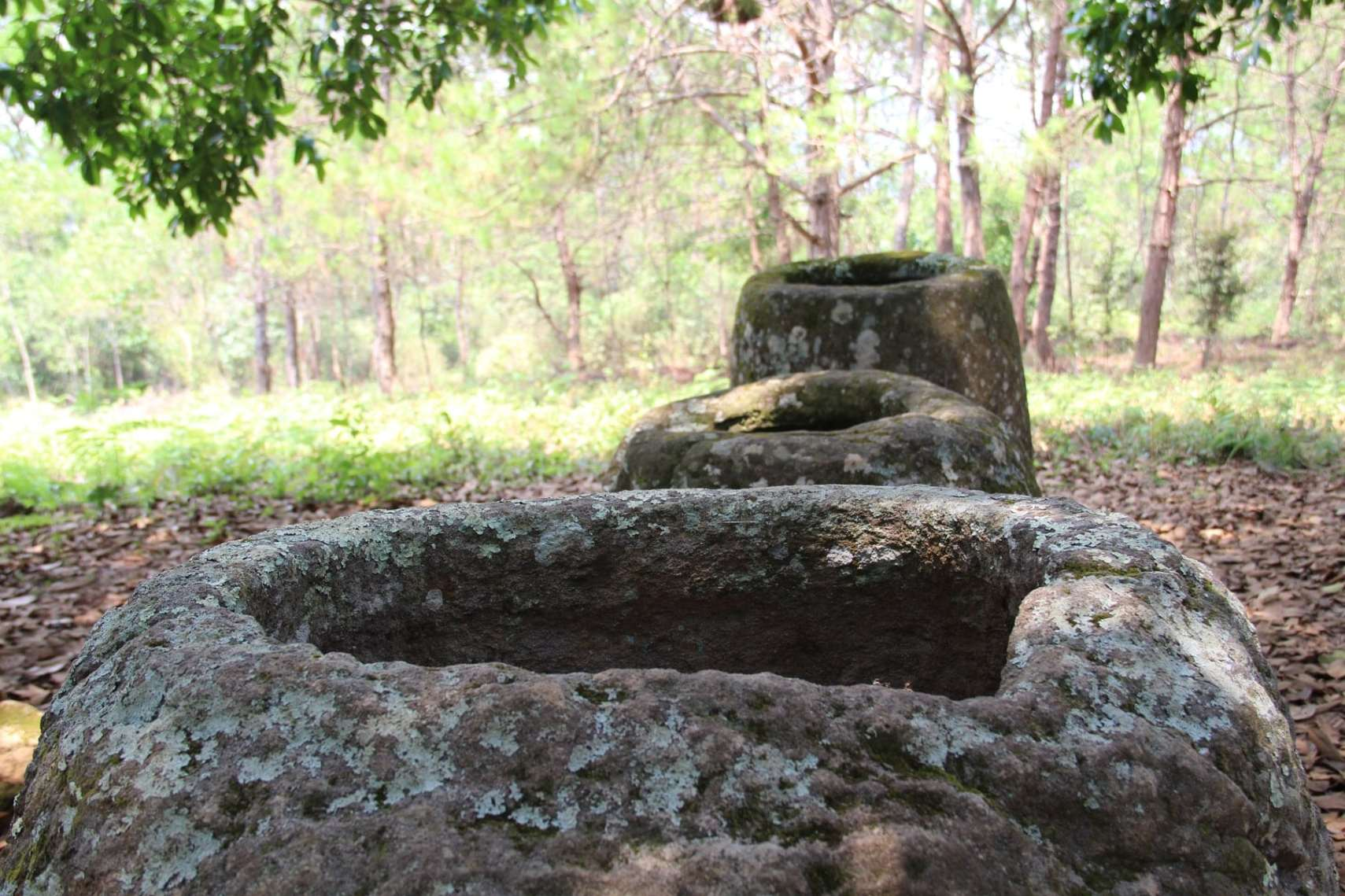 Three jars holes Jar site 2 Phonsavan