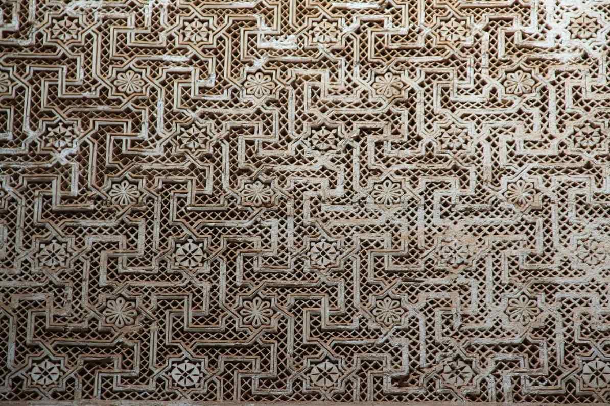 Decorazioni intagliate nella camera nuziale della kasbah di Telouet