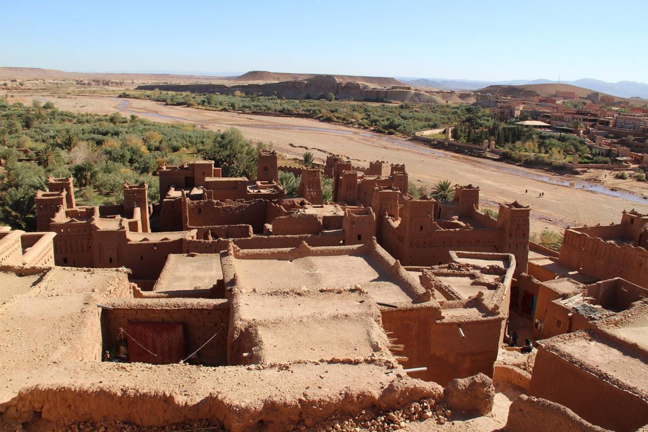 Vista dello ksar di Ait Benhaddou