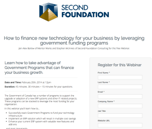 Second Foundation Consulting Webinar